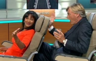 Richard Madeley's pretend row ends in actual chaos as he 'destroys' the GMB set