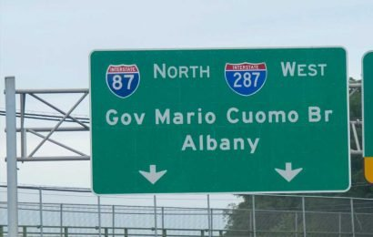 DOT patching road signs that left out 'M.' in 'Gov. Mario M. Cuomo Bridge'