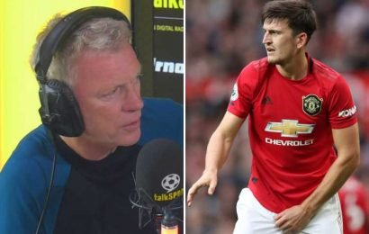 David Moyes reveals he tracked Harry Maguire when he was Man Utd boss but jokes he was put off transfer by defender's 'BIG A***' – The Sun