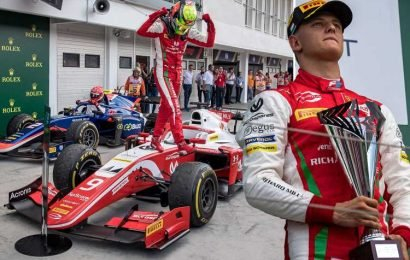 Michael's Schumacher's son Mick wins first-ever Formula Two race in Hungary as he continues dad's legacy – The Sun