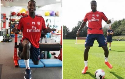 New Arsenal star Pepe trains on his own as he battles to be fit for Premier League opener vs Newcastle – The Sun