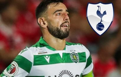 Spurs jump ahead of Man Utd in Bruno Fernandes transfer chase but are £9m short of Sporting's £64m asking price – The Sun