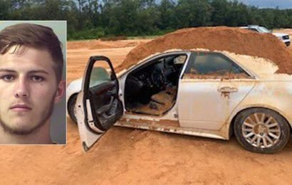 Florida man dumped dirt on girlfriend's borrowed car with front-end loader: police