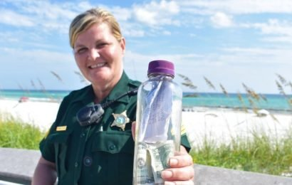 'This bottle contains my son's ashes': Remains wash up on Florida beach