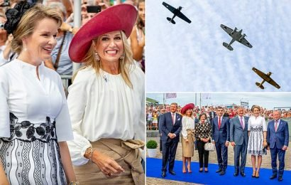 Dutch and Belgian royals commemorate 75th anniversary of liberation