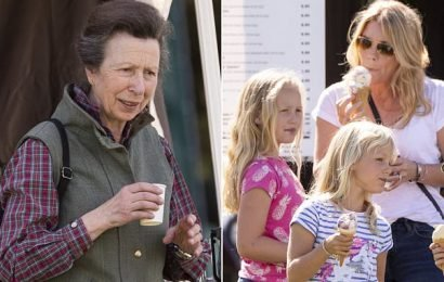 Princess Anne joins daughter-in-law Autumn Philips and grandchildren