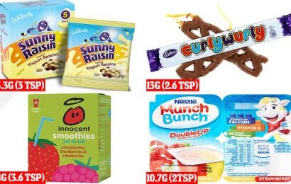 Children's lunchboxes can contain up to 14 teaspoons of sugar