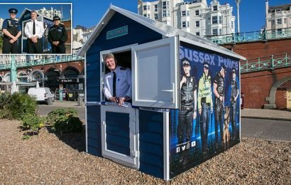 Sussex Police set up shop in a beach hut on Brighton's seafront