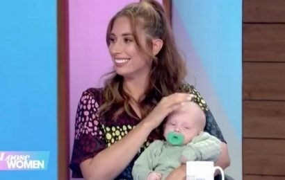 Stacey Solomon's son Rex falls asleep on Loose Women as she reveals he was named after a dinosaur