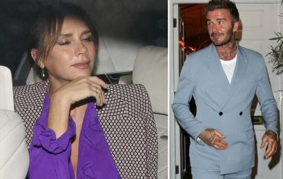 David and Victoria Beckham look all partied out as they leave her fashion show afterparty – The Sun