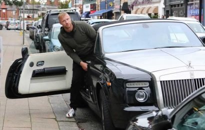 Freddie Flintoff pictured back behind the wheel after 124mph crash filming Top Gear