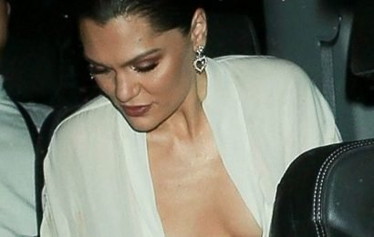Jessie J wears plunging top as she leaves her show with supportive boyfriend Channing Tatum