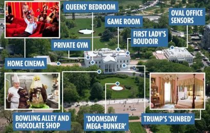 Inside the White House from a chocolate shop and naked pool parties to 'a sunbed where Trump tops up his orange tan'