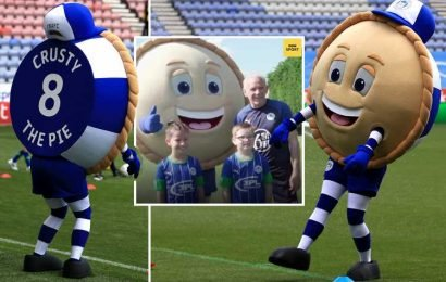 Wigan Athletic mascot Crusty the Pie on meeting Peter Reid, who asked him his filling and being the darling of the DW Stadium