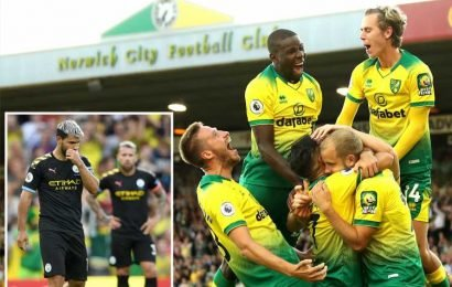 Norwich 3 Man City 2: Champions stunned as Pep's men lose for first time in NINE months and five points behind Liverpool in title race – The Sun
