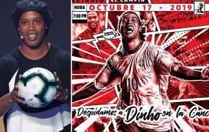 Ronaldinho to come out of retirement aged 39 to play for Colombian side Santa Fe – The Sun