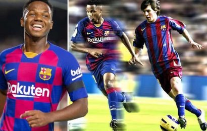 Ansu Fati is the heir to Lionel Messi's throne, Barcelona's youngest ever Champions League debutant and has a £88.6million release clause