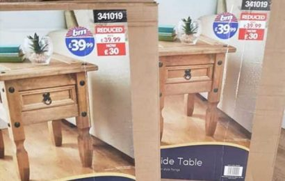 B&M is selling gorgeous side tables worth £40 for just £1