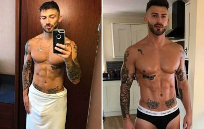 Hollyoaks' Jake Quickenden sends fans wild as he reveals his bulge in towel snap – The Sun