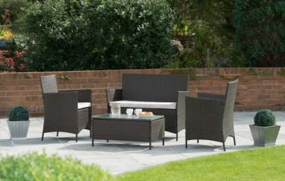 B&M's four-seater garden furniture set with table worth £90 is now £40
