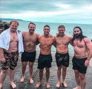 Love Island's Greg O'Shea shows off his six-pack after swim in the Irish Sea as ex Amber Gill plays basketball with hunky mystery men