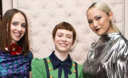 Sophia Lillis & Lucy Fry Celebrate Gucci's Zumi Handbag Collection