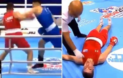 Amateur boxer 'criminally' KO'd and stretchered out of ring after fighting against professional – The Sun