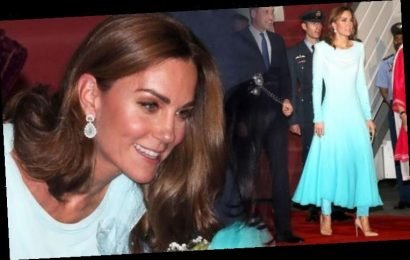 Kate Middleton wears modest gown with trousers underneath to arrive in Pakistan