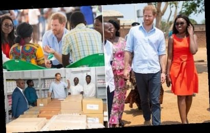 Prince Harry tells young people to 'hold on to your dreams' in Malawi