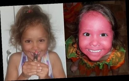 Mother left shocked after daughter, 4, painted her face with lipstick