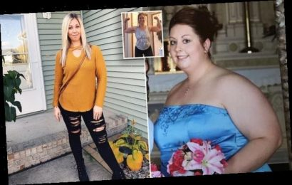 Mother, 35, shed half her body weight after she was fat-shamed by SON