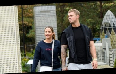 Jacqueline Jossa and Dan Osborne look loved-up on family trip to Legoland