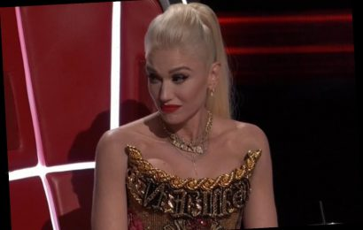 Gwen Stefani and boyfriend Blake Shelton bicker as he admits he's risking his relationship going head to head with the No Doubt star on The Voice