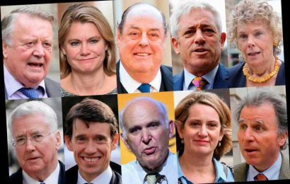 Which MPs are not standing at the next election?