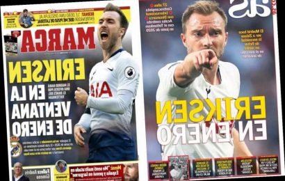 Desperate Real Madrid plot £30m swoop for wantaway Christian Eriksen in January – but Spurs star wants summer transfer – The Sun