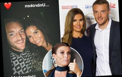 Rebekah Vardy posts another defiant pic with Jamie to show they're 'unbreakable' after Coleen Rooney row