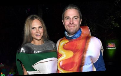 Stephen Amell Dresses Up as a Hot Dog for Halloween, Cassandra Jean Is Beans!