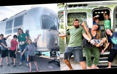 This Family of 6 Lives in a 31-Foot Vintage Airstream — Just Wait Till You See the Inside!