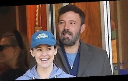 Jennifer Garner & Ben Affleck Look Happy Together Taking Their Kids To School On Halloween — See Pics