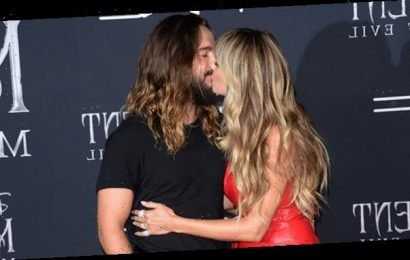 Heidi Klum, 46, Rocks Sexy Leather Dress & Makes Out With Hubby, 30, At 'Maleficent 2' Premiere