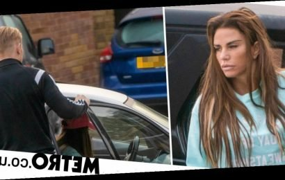 Katie Price 'in hot water' as she's snapped sneaking out of Kris Boyson's house