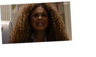 EastEnders fans terrified for Chantelle Atkins as she suffers a miscarriage but pretends she is OK so Gray won't hit her