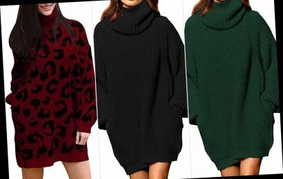 This $34 Sweater Dress Is So Cute and Cozy, You'll Want to Live In It All Season Long