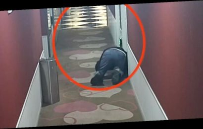 Pervert filmed crawling on hotel corridor to hear couples having sex in rooms