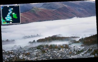 Britain braces for the COLDEST night of Autumn so far