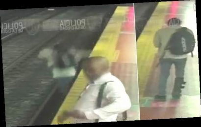 Man with walking boot falls to subway track after looking at phone