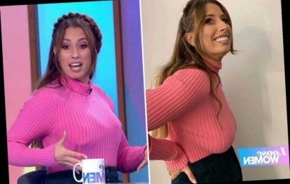Stacey Solomon shows off her boobs after 4-minute breast lift live on Loose Women – The Sun