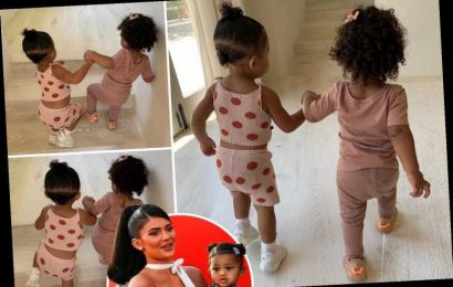 Kylie Jenner shares adorable snaps of one-year-old cousins Stormi and Chicago holding hands