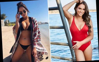 Vicky Pattison wows as she poses in sexy red swimsuit ahead of birthday getaway – The Sun