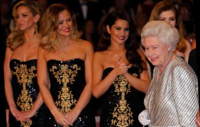 Cheryl says the Queen is 'so delicate' and 'has hair like candy floss' in adorable description